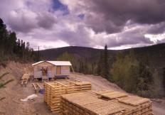 Drill core boxes at Eldorado Creek camp