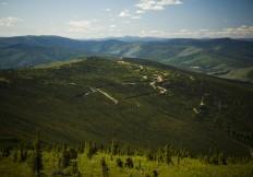 View west towards Lone Star Ridge